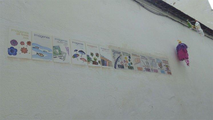 Azulejos imágenes contra el plástico